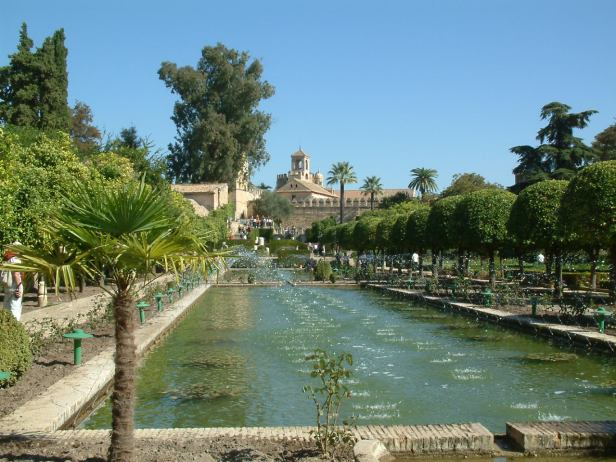 View from the gardens, toward the Royal Palace - Cordoba