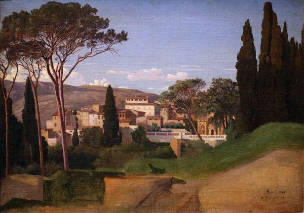 e-vision-moderna-de-una-villa-romana-achille_benouville_veduta_di_una_villa_romana_1844