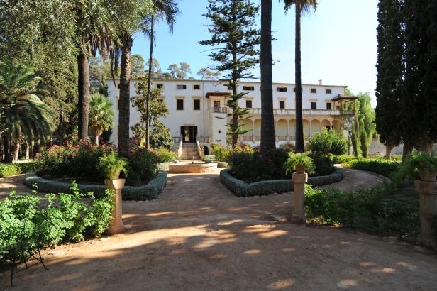 La façade du manoir de la finca Raixa à Bunyola à Majorque