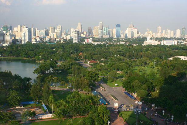 bangkok-lumphini_park_air_view