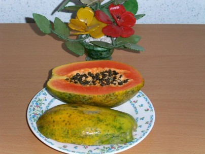 Papaya.-Carica papaya.-k